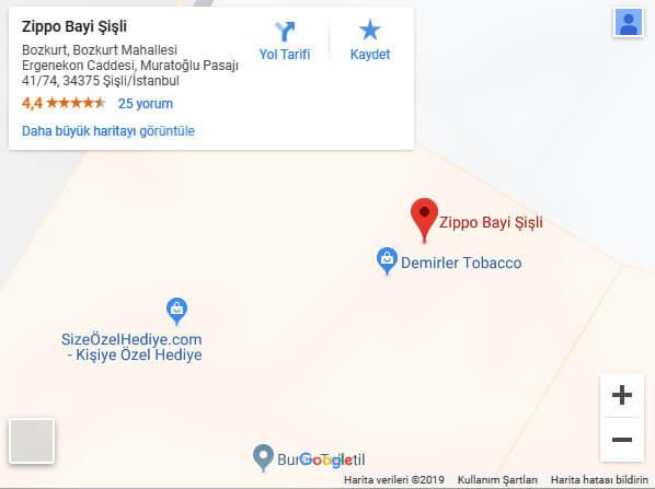 Zippo Bayi Şişli Harita