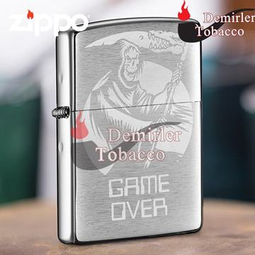 Zippo Çakmak GAME OVER Brushed Chrome