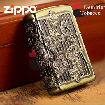 Zippo Çakmak High Polish When Riding By Six Dragons