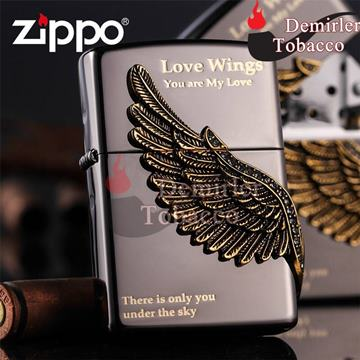 Zippo Çakmak Wings of Love - Black Ice